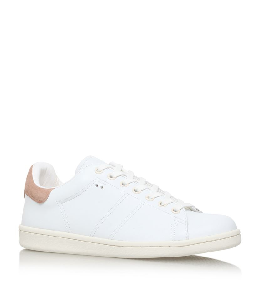 isabel marant bart leather sneaker in white lyst. Black Bedroom Furniture Sets. Home Design Ideas