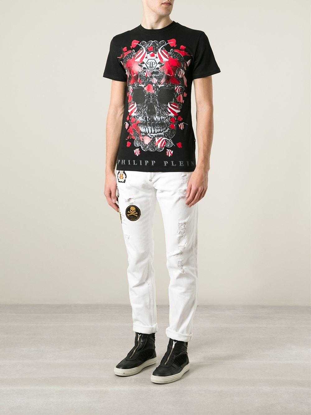 Philipp Plein Clown Fish Cotton T Shirt In Black For Men Lyst