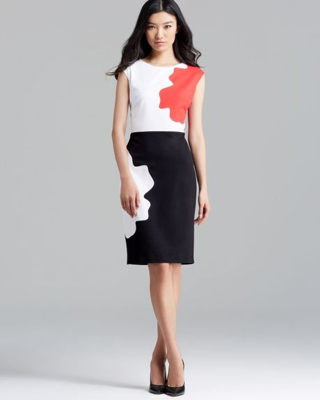 escada-multicolor-dress-cap-sleeve-donde-puzzle-formal-dresses-product ...