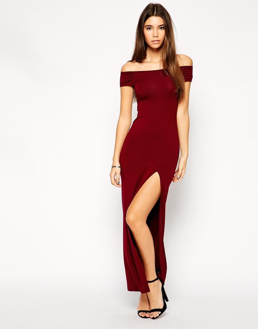 Lyst Asos Exclusive Bardot Body Conscious Maxi Dress
