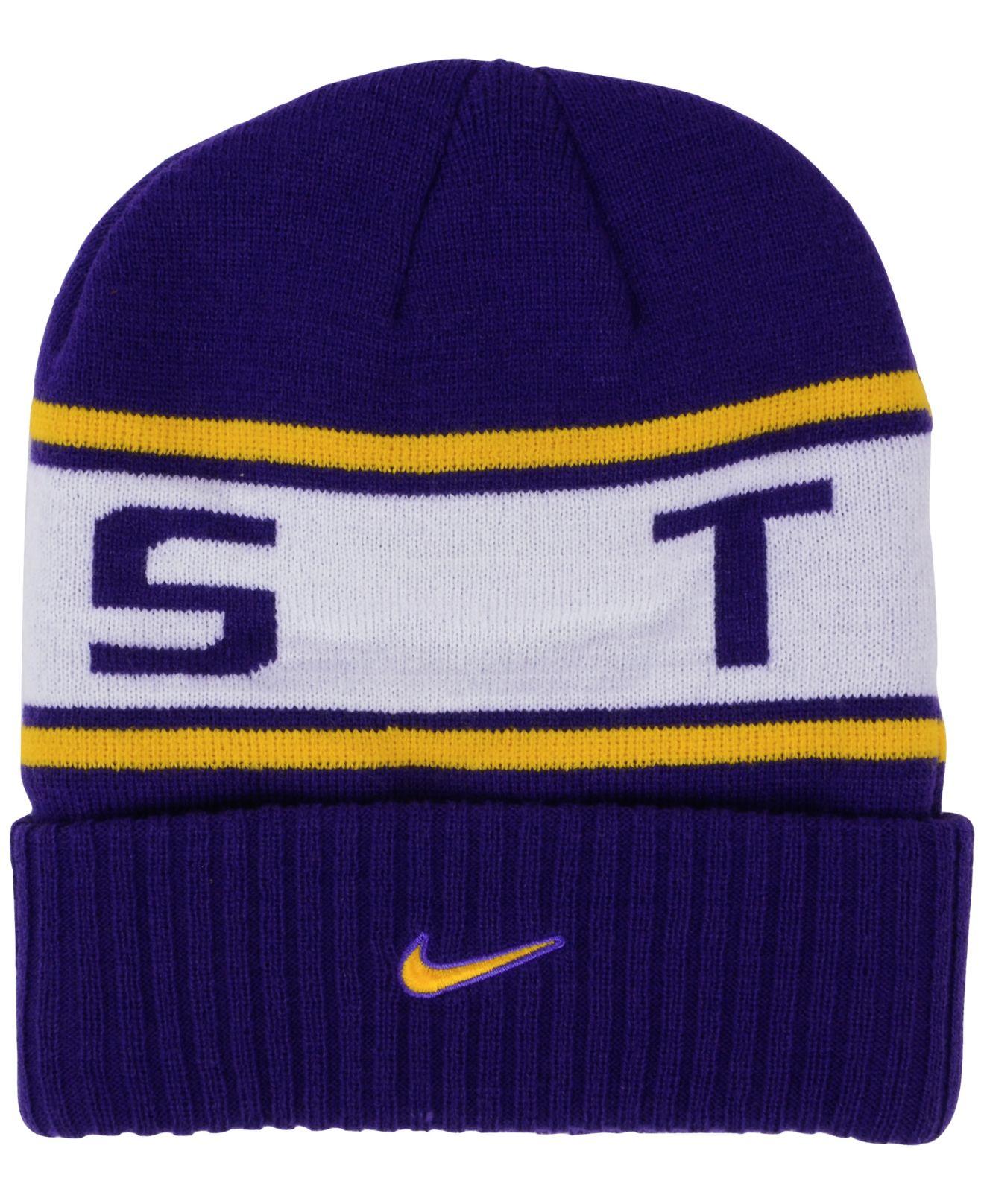 b5098052339 Lyst - Nike Lsu Tigers Sideline Knit Hat in Blue for Men