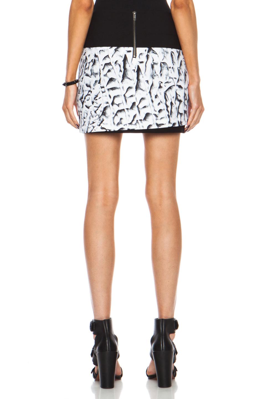 008146b9702 Lyst - Helmut Lang Strata Printed Mini Linen Blend Skirt