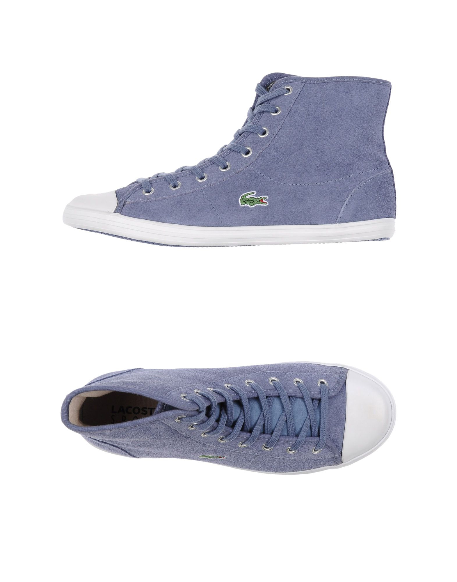 lacoste sport hightops amp trainers in blue lyst