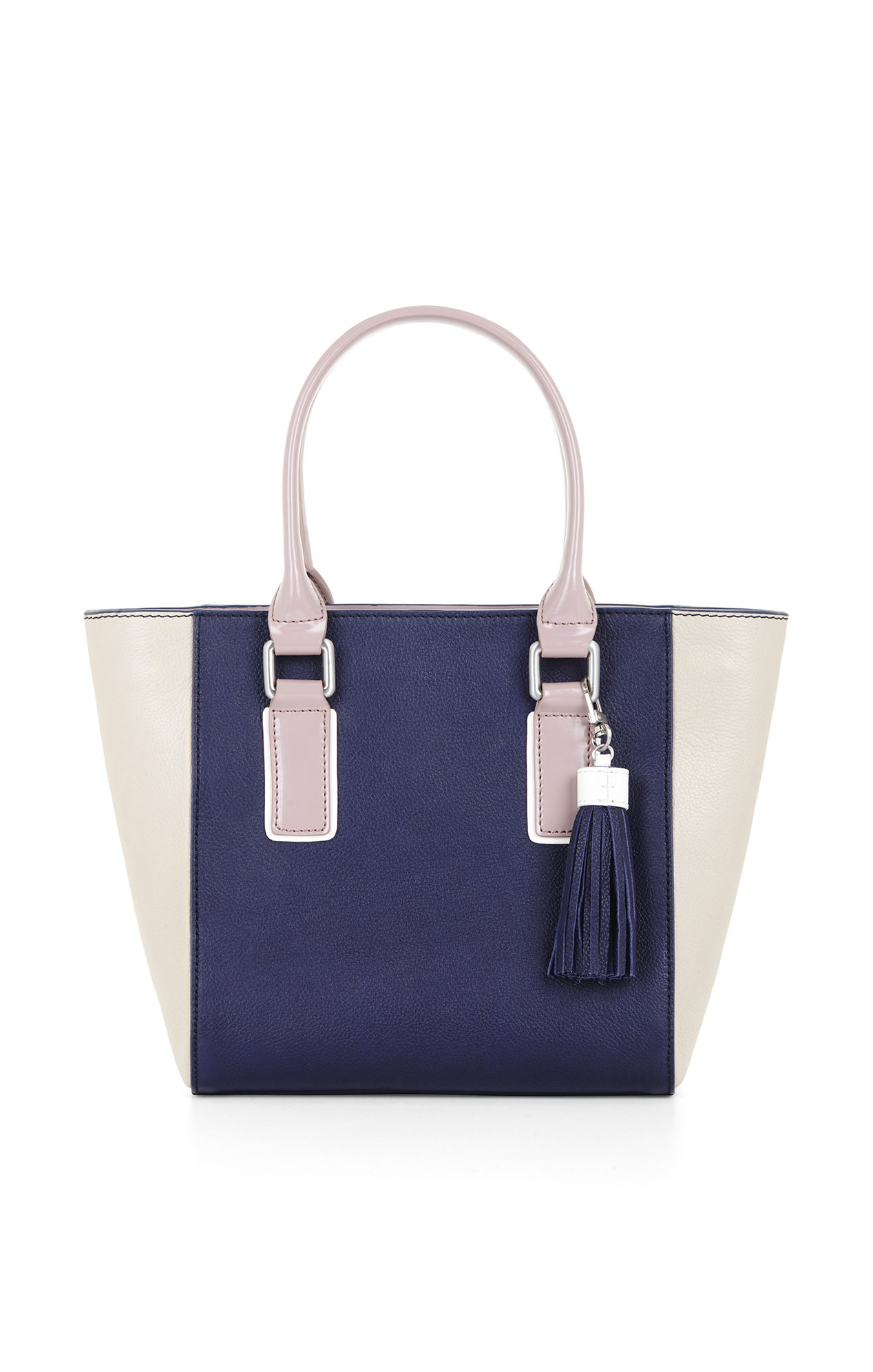 Bcbgmaxazria Mini Ursula Color-Blocked Leather Tote in Blue - Lyst 4b65cf44a6dd4