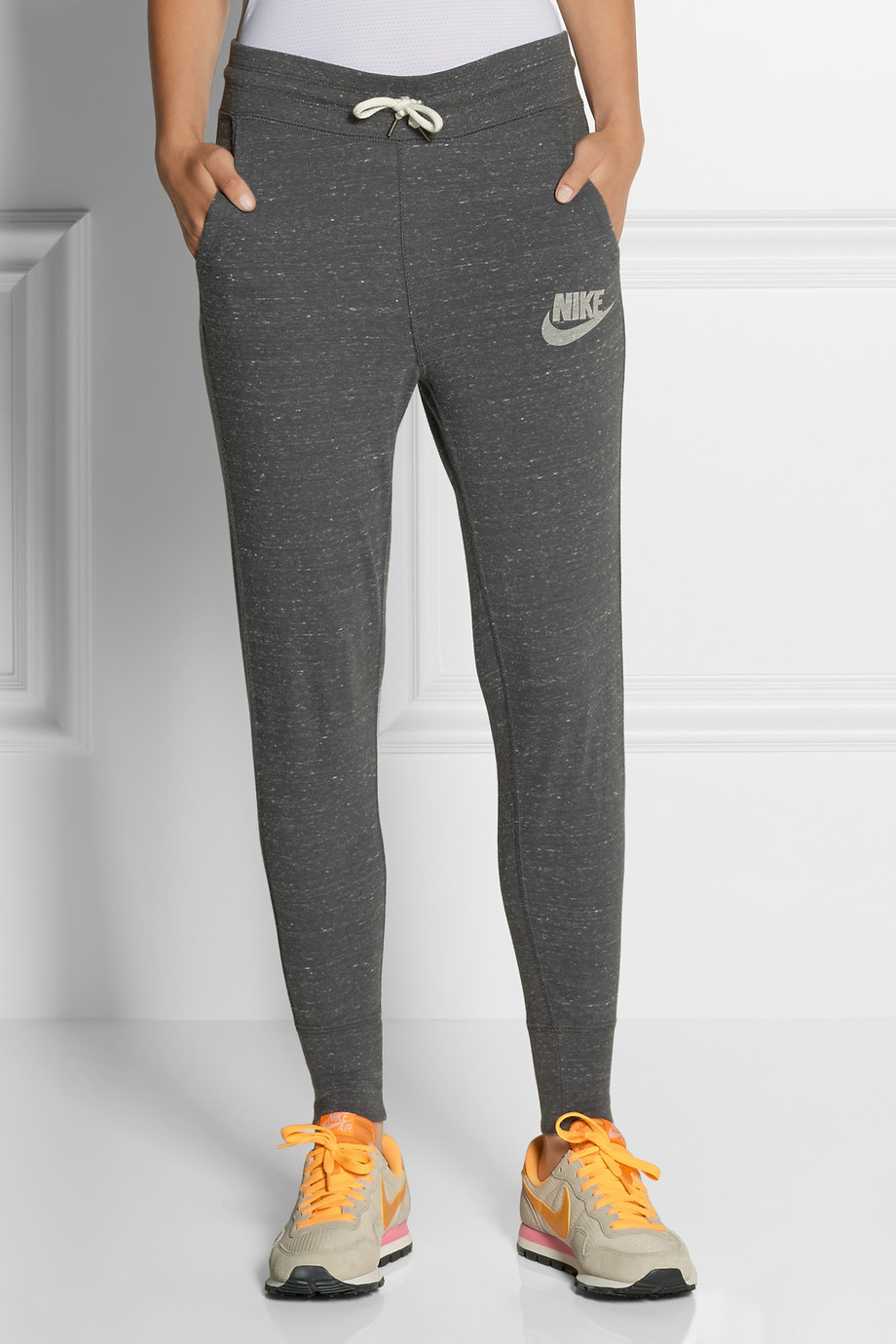 75d48742bc7b Nike Gym Vintage Organic Cottonblend Jersey Track Pants in Gray - Lyst
