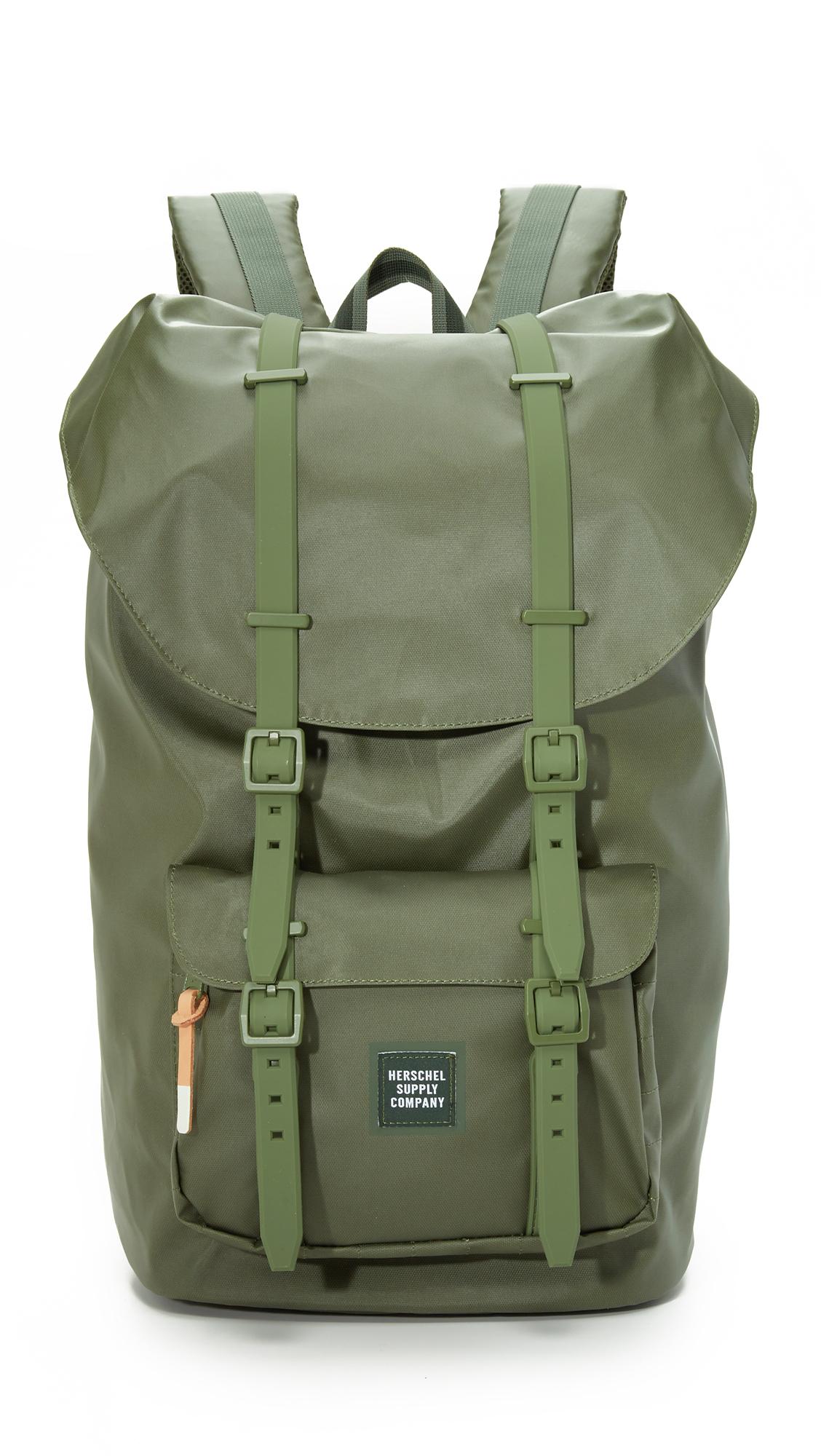 3667ad1c365 Lyst - Herschel Supply Co. Studio Little America Backpack in Green ...