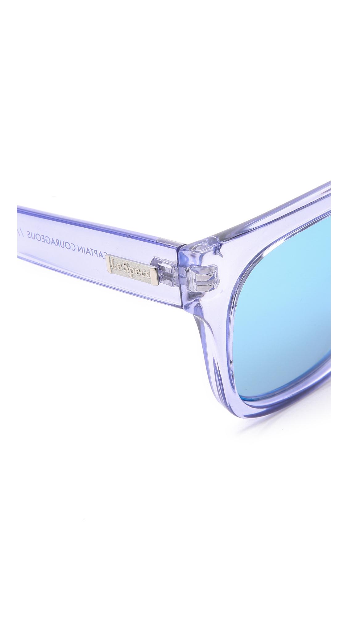 9dd7ac7d716c88 Lyst - Le Specs Captain Courageous Sunglasses - Glacier ice Blue ...