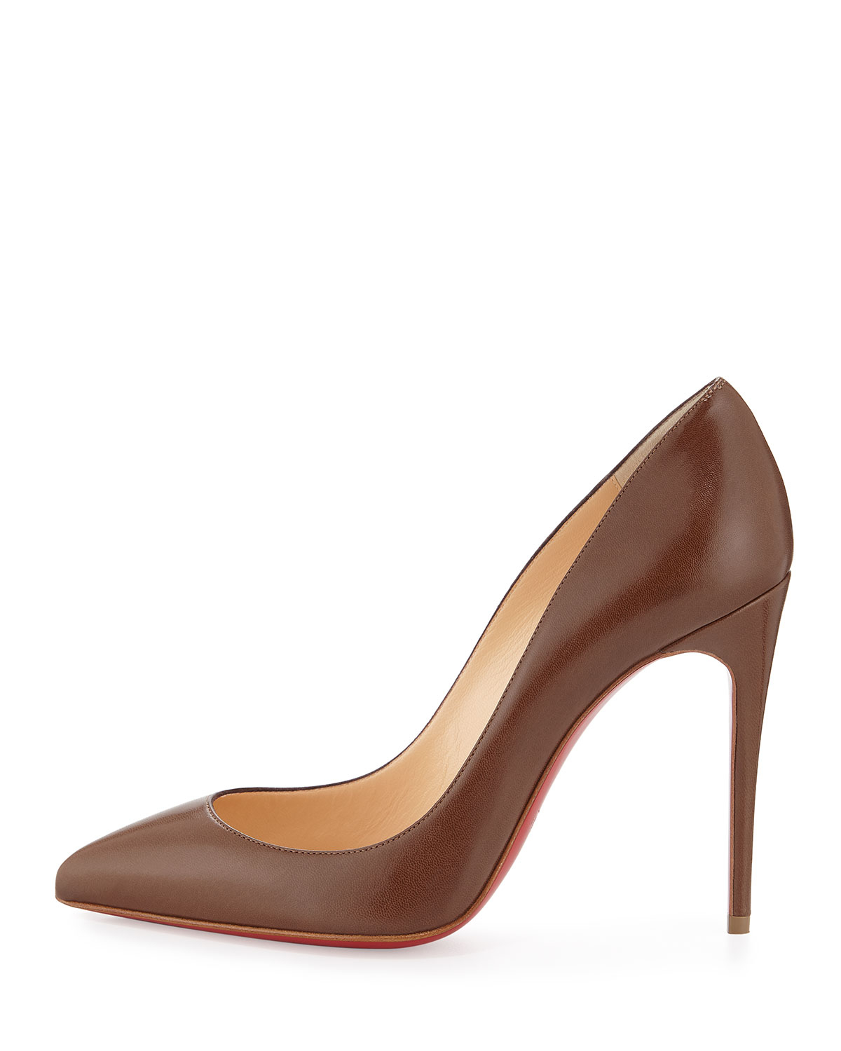 Christian louboutin Pigalle Follies Leather Pumps in Pink (BLUSH ...