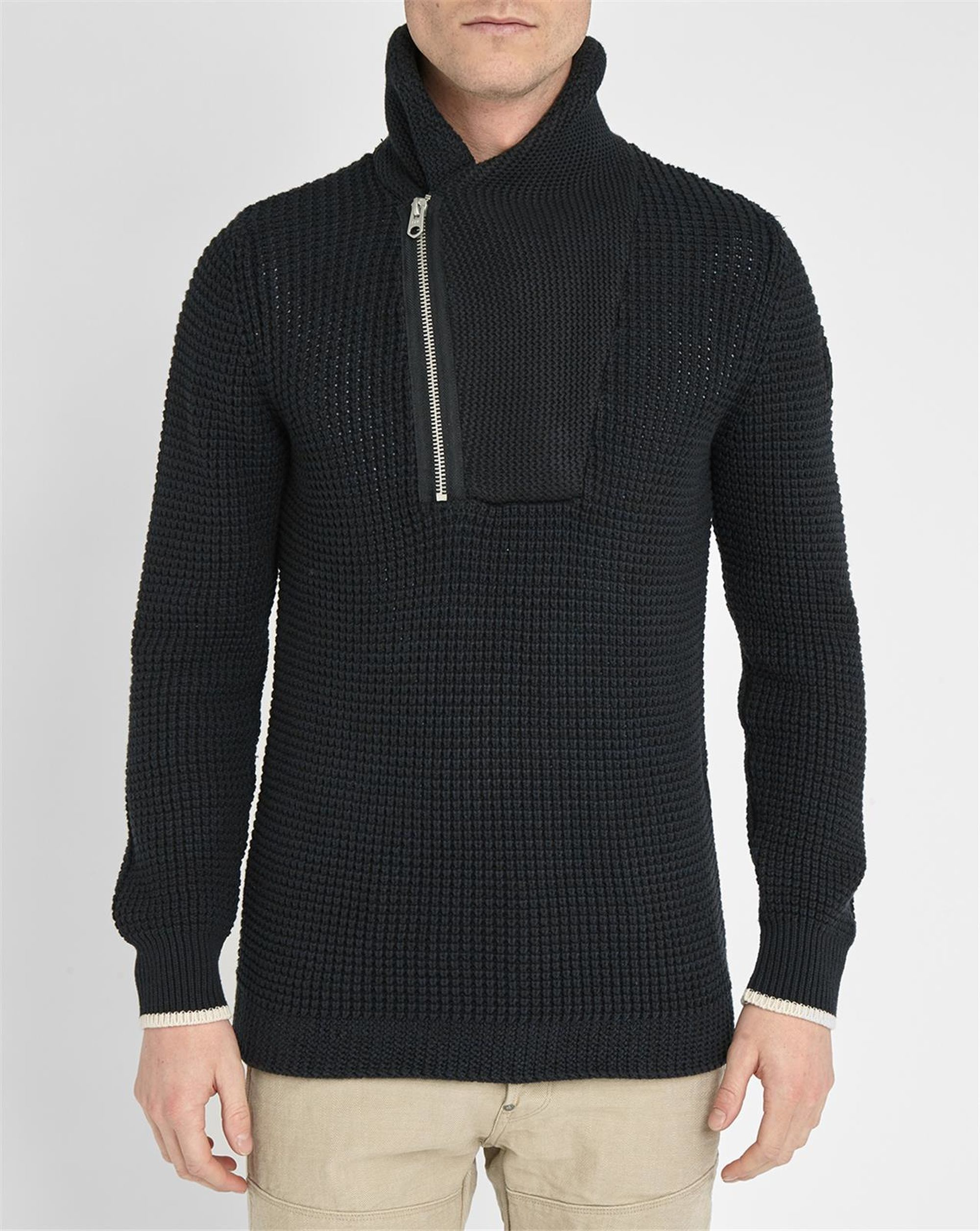 g star raw charcoal filler aero knit shawl collar sweater in gray for men lyst. Black Bedroom Furniture Sets. Home Design Ideas