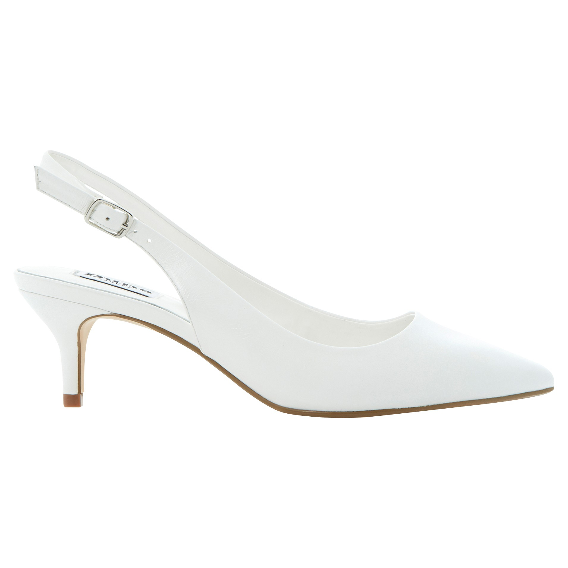 Dune Cathryn Slingback Court Shoes In White Lyst