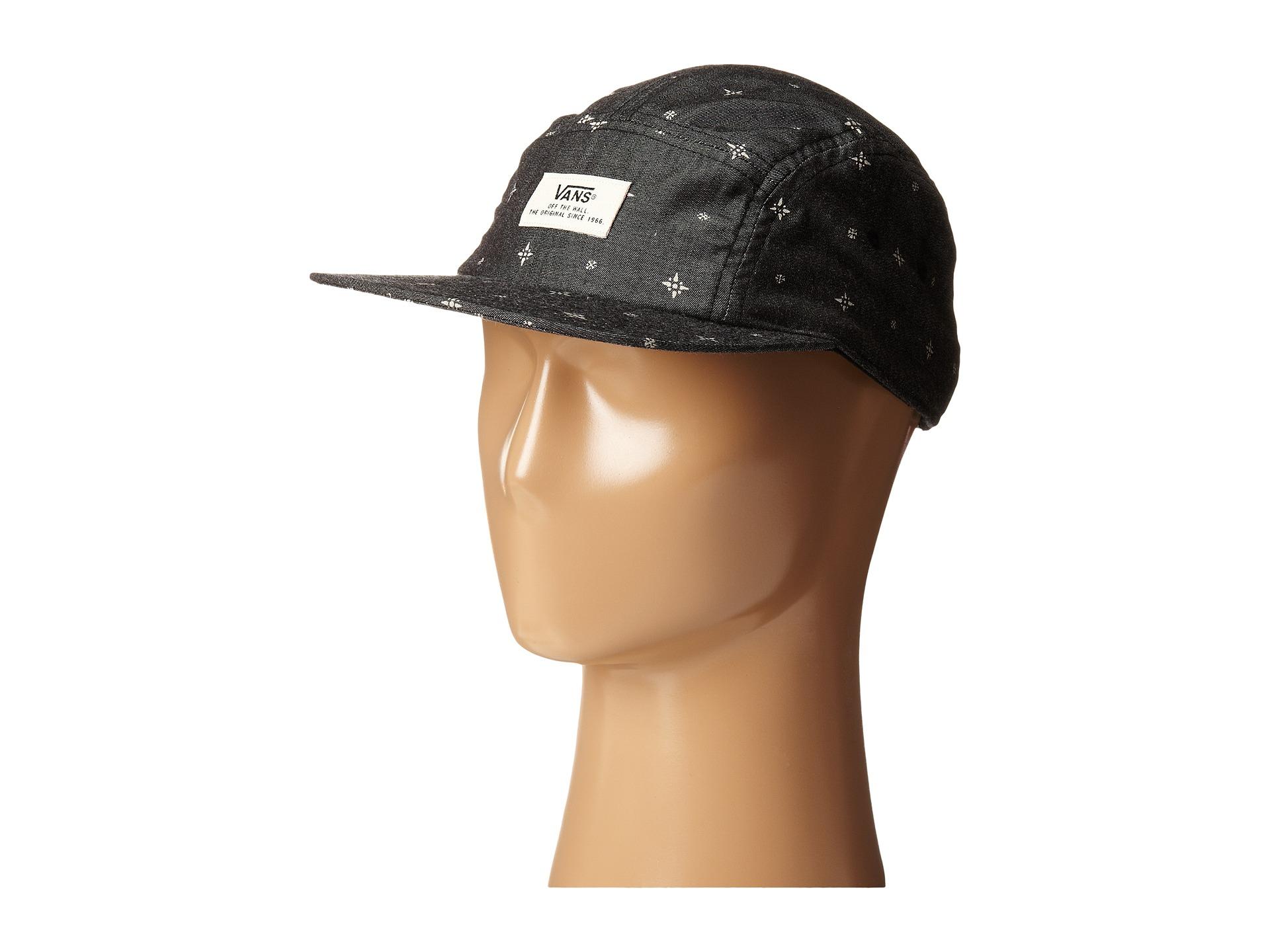307e163fc4c Lyst - Vans Davis 5-Panel Camper Hat in Black for Men