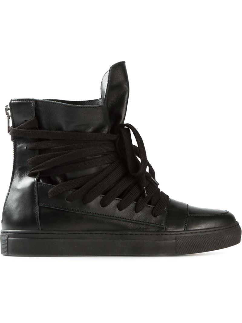96154a682337a4 Kris Van Assche Multi-Lace High-Top Sneakers in Black for Men - Lyst