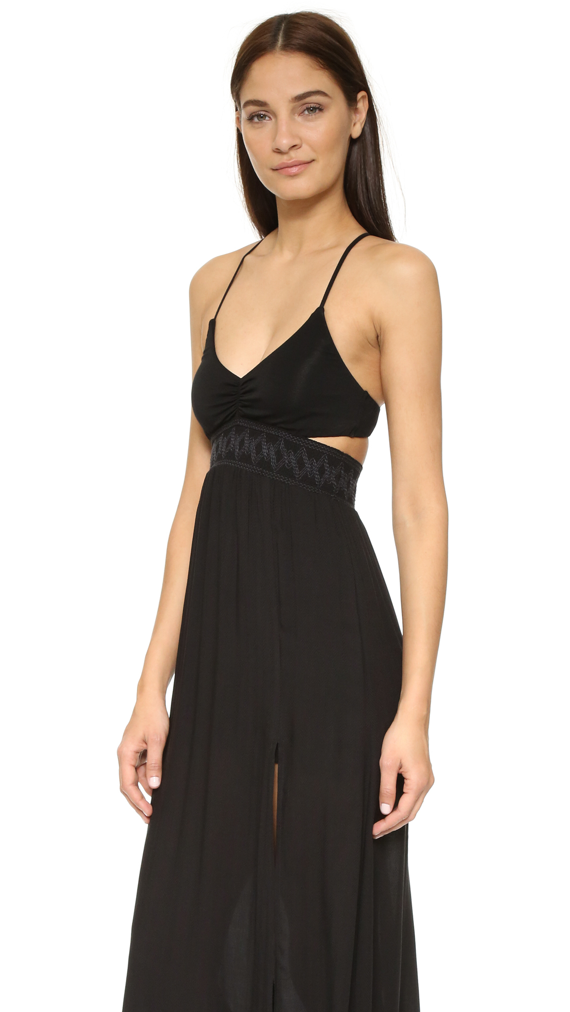 L*space Femme Cutout Maxi Dress in Black | Lyst