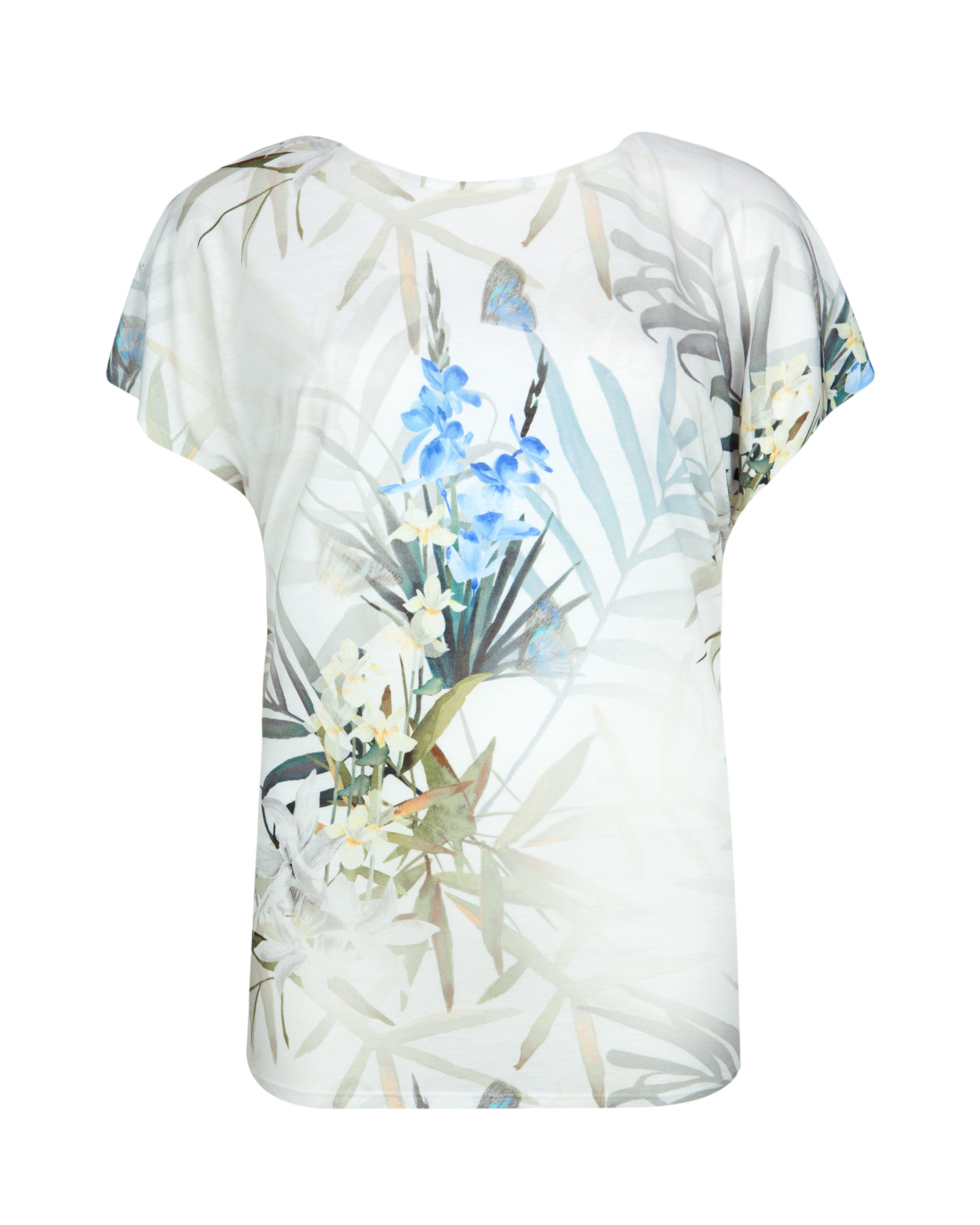 Ted baker sazia twilight floral t shirt in green lyst for Ted baker floral shirt