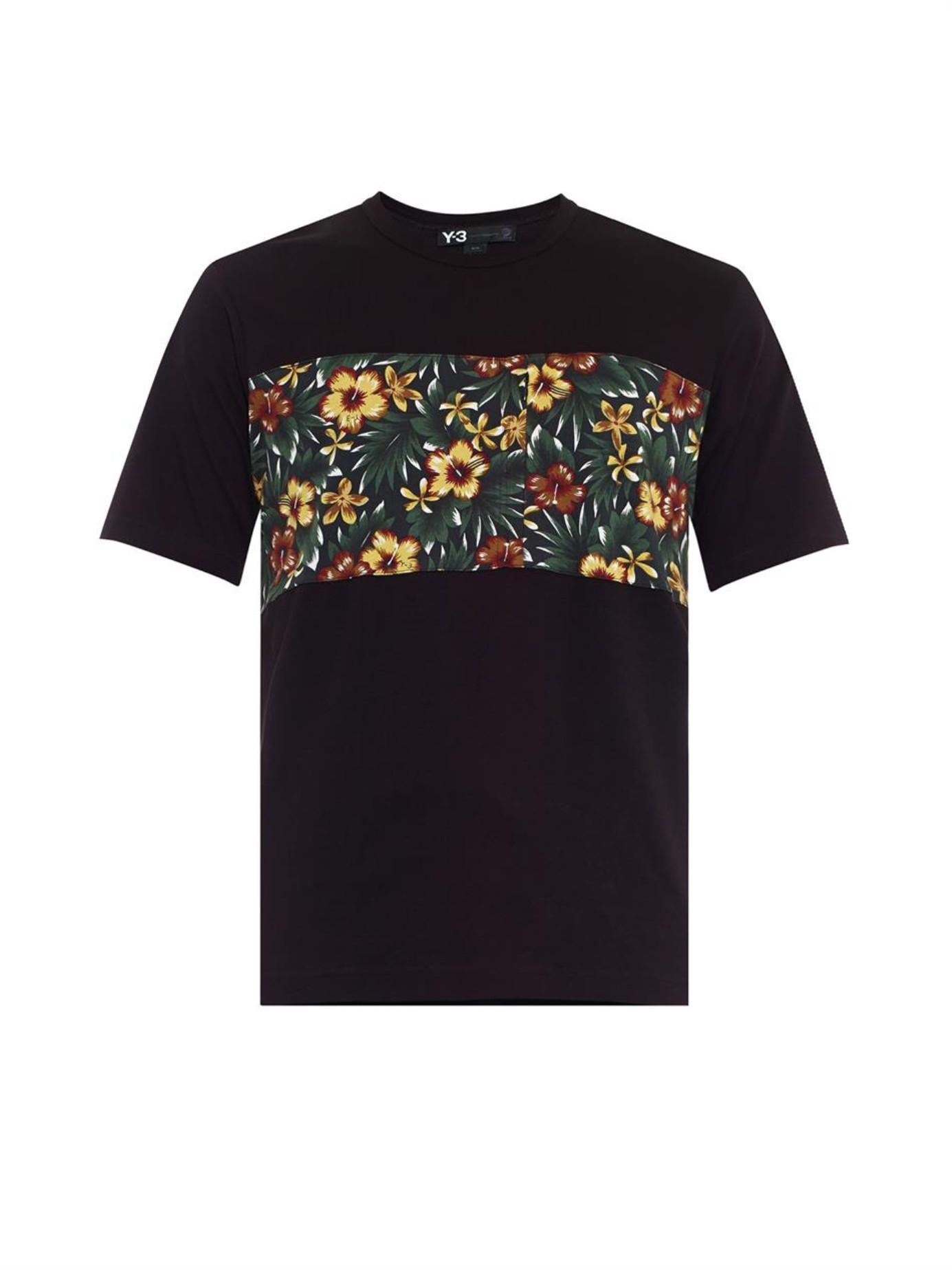 cd9a9df1e58e Lyst - Y-3 Aloha Floral-Print T-Shirt in Black for Men