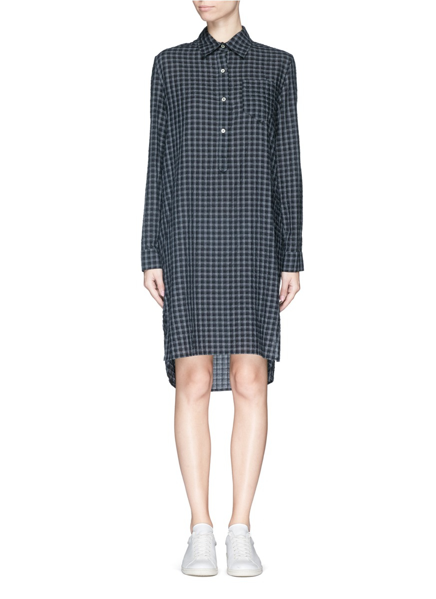 Toile Isabel Marant 39 Rane 39 Check Flannel Shirt Dress In
