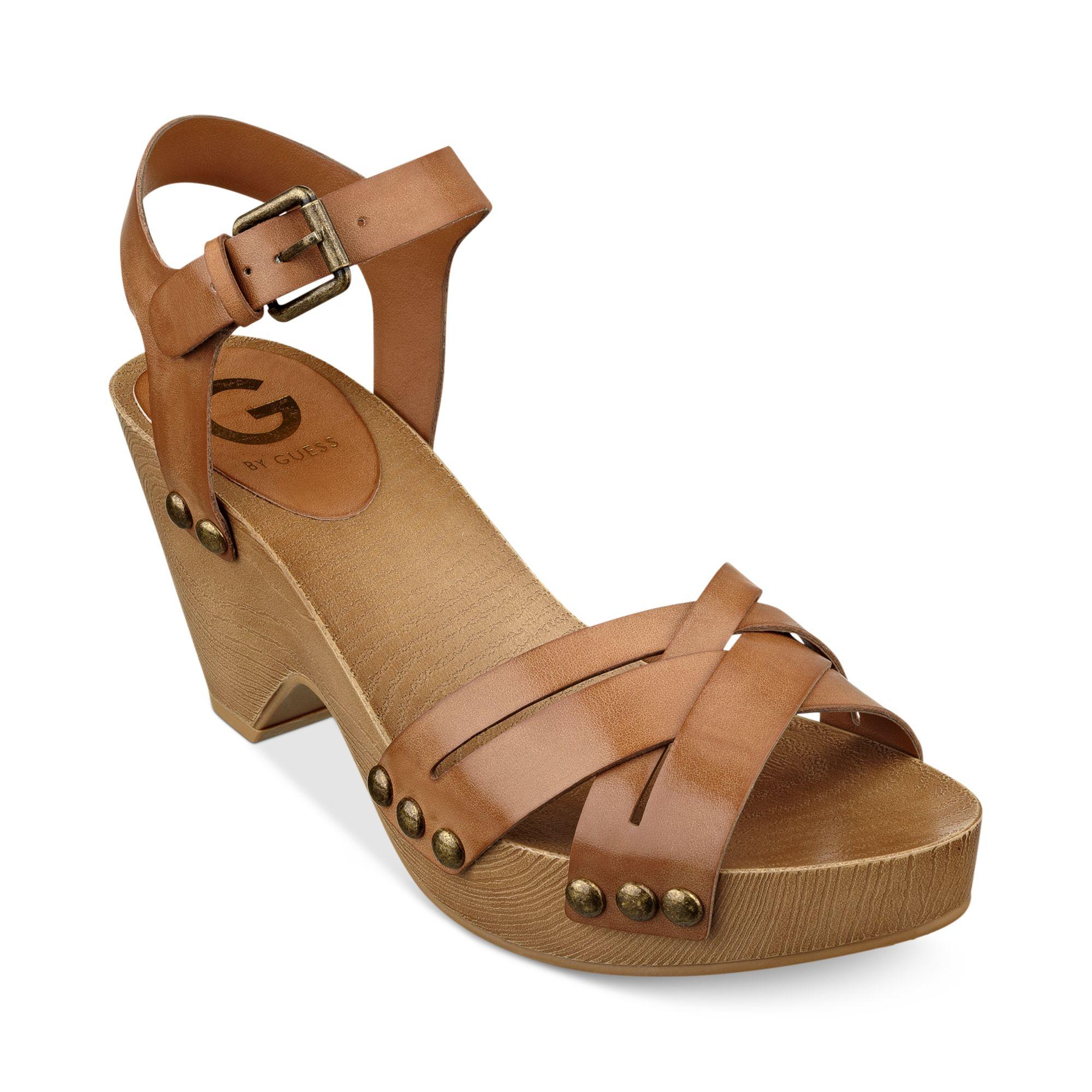 7efa6cbcc87 Lyst guess womens jackal platform clog sandals in brown jpg 2000x2000 Clog  sandals