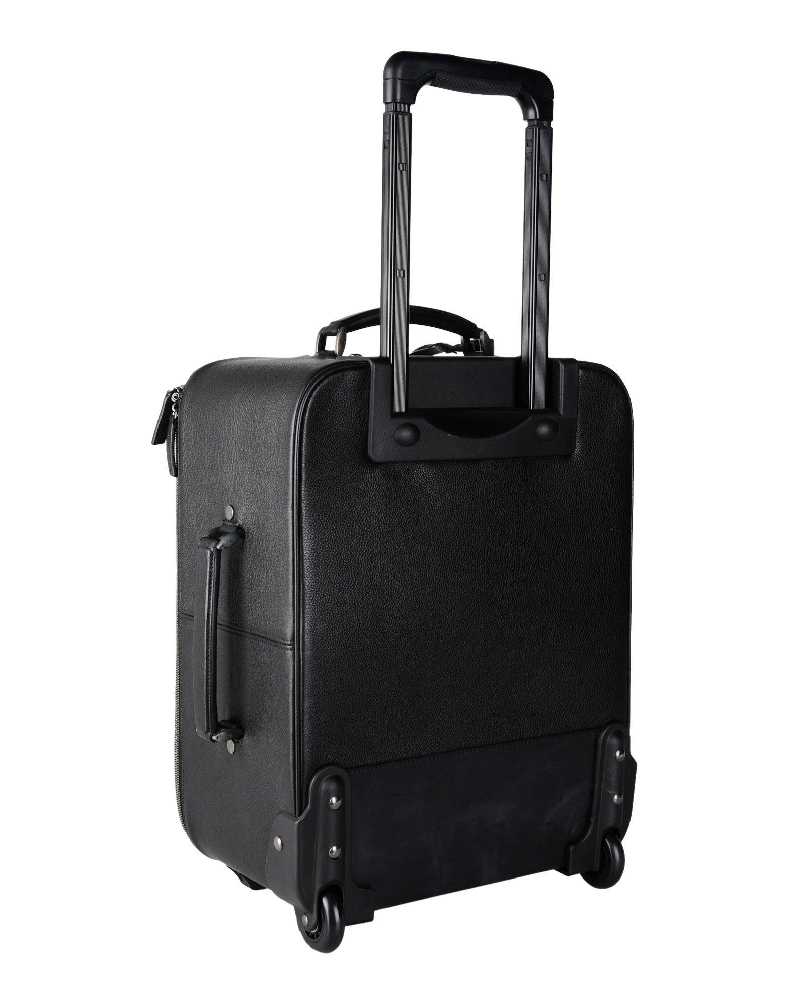 208fae4011 Lyst - Giorgio Armani Wheeled Luggage in Black for Men