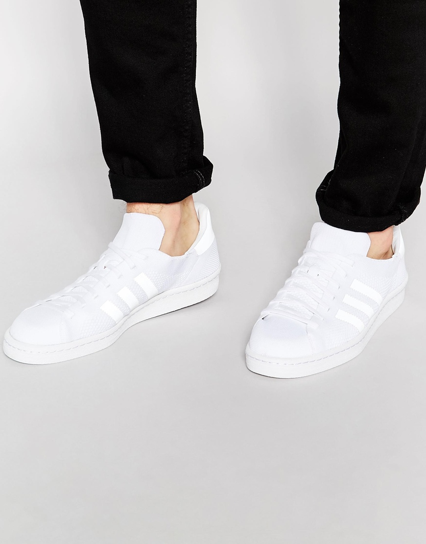 outlet store 4bf13 11825 Lyst - adidas Originals Campus 80s Primeknit Trainers S78405