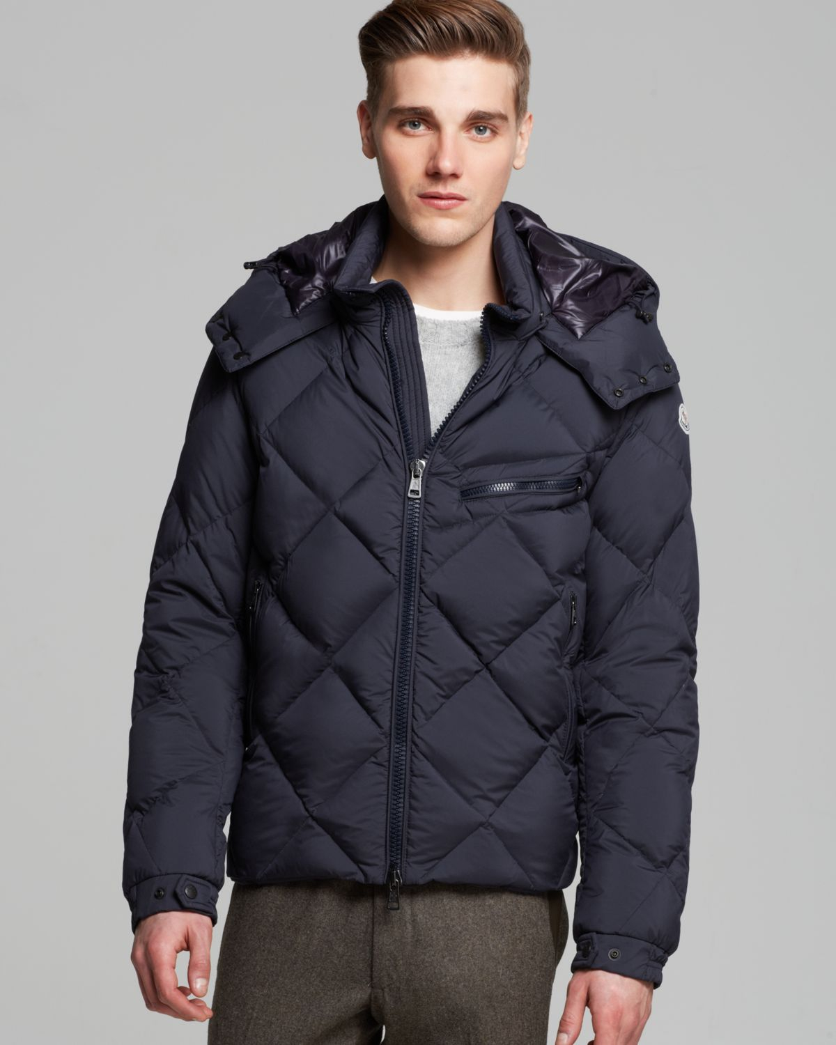 Lyst Moncler Newman Diamond Quilted Down Jacket In Blue