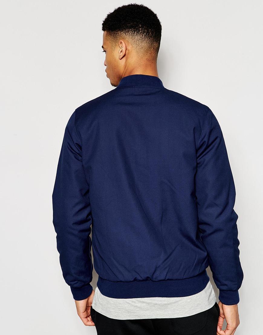 le coq sportif bomber jacket blue in blue for men lyst. Black Bedroom Furniture Sets. Home Design Ideas