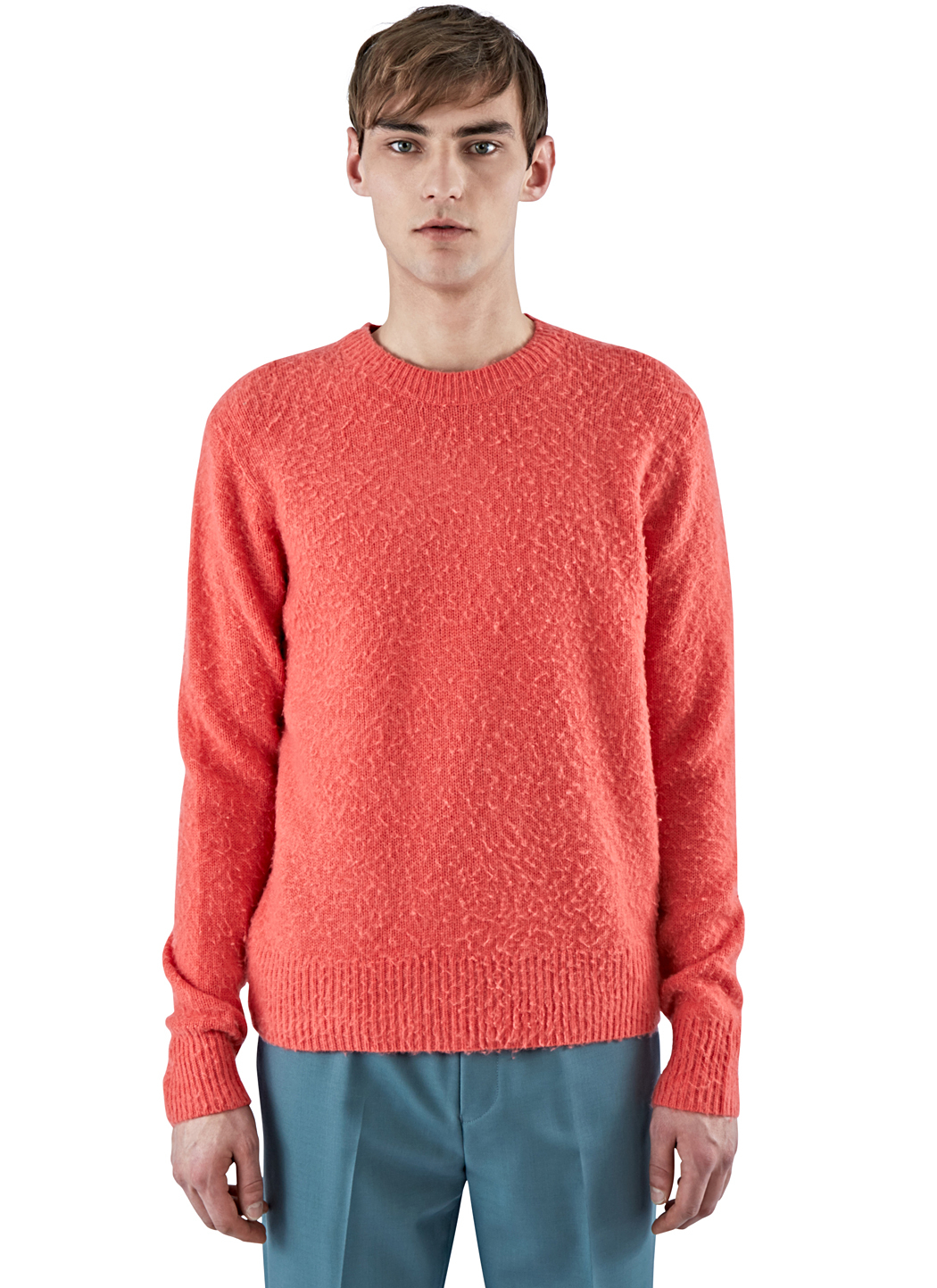 acne studios men 39 s peele cashmere knit sweater in pink in pink for men lyst. Black Bedroom Furniture Sets. Home Design Ideas