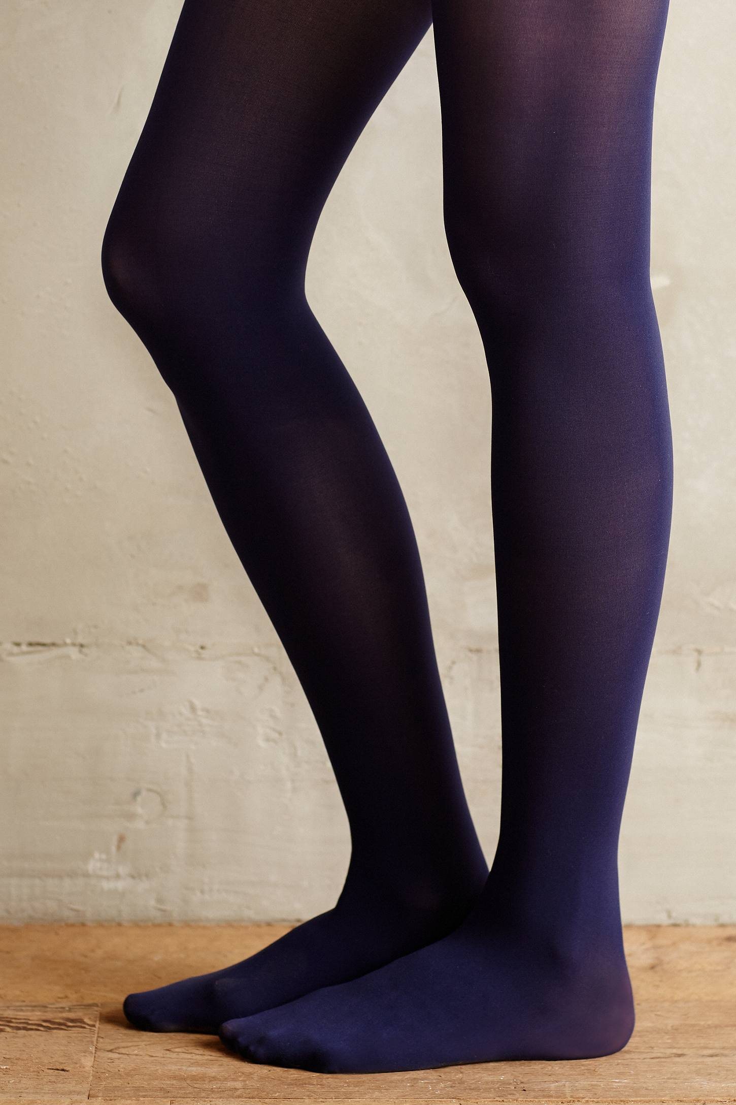 Lyst Pure Good Opaque Tights In Blue