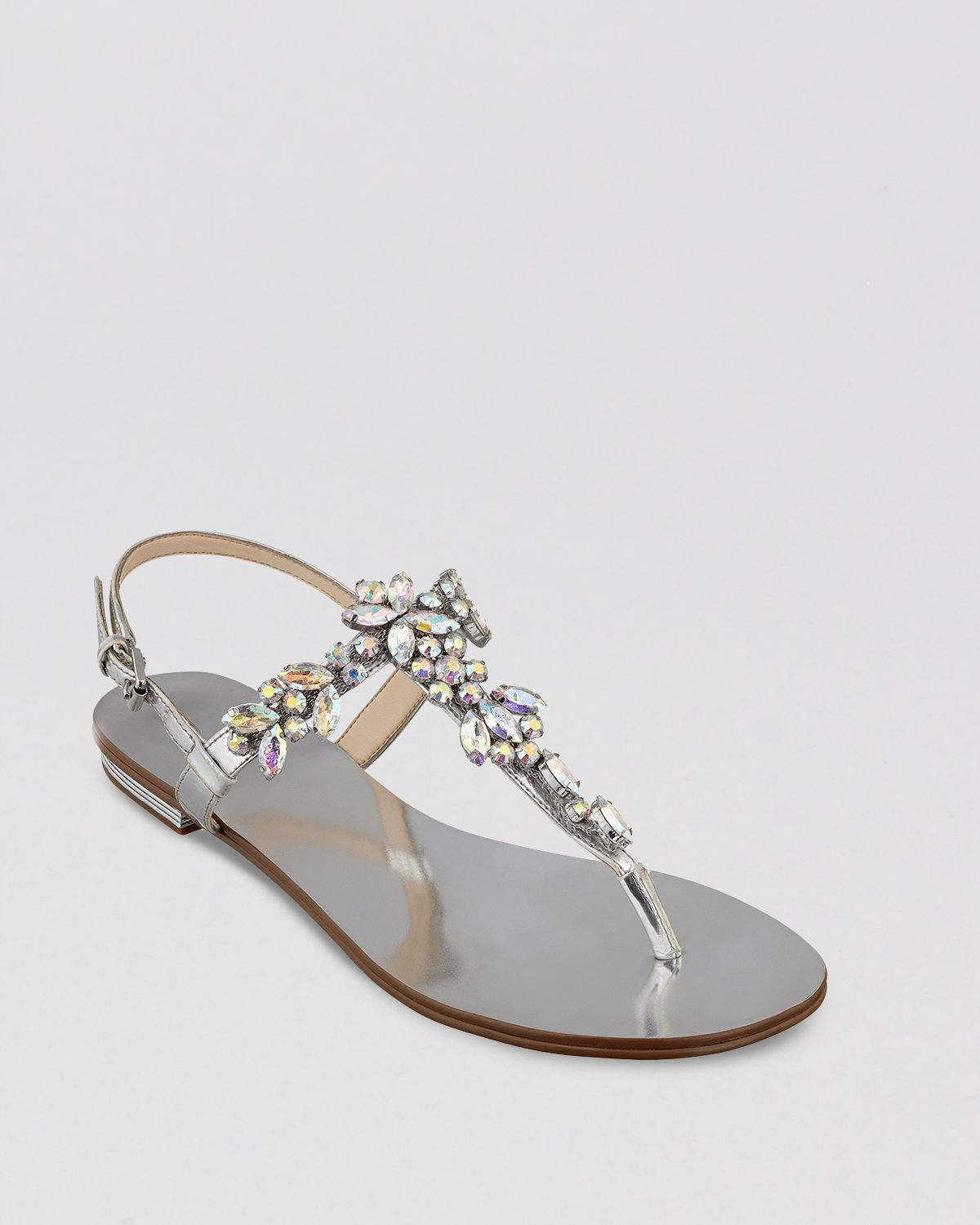 Ivanka Trump Thong Sandals Faye in Silver | Lyst
