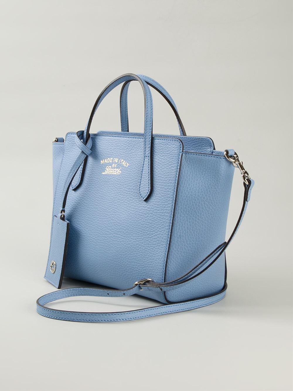 6abb575fd7f65d Gucci Mini 'Swing' Tote in Blue - Lyst