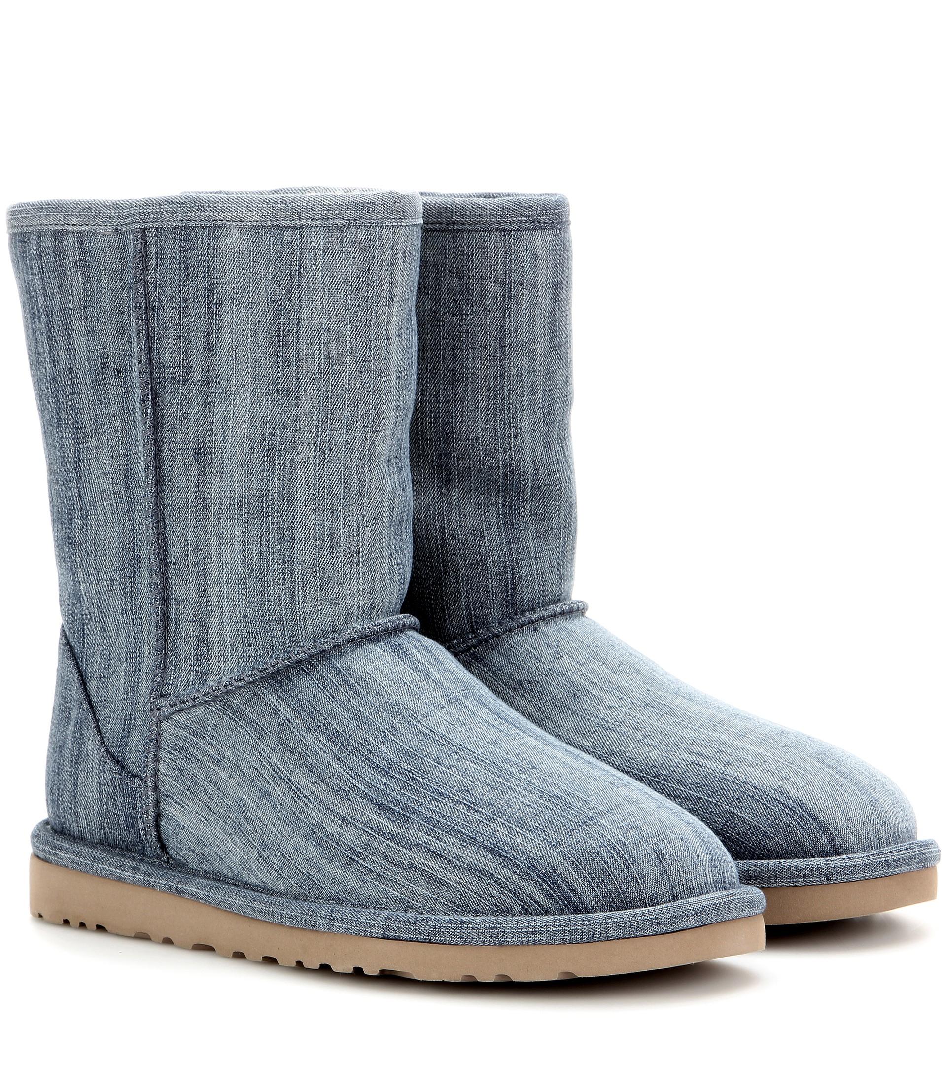 ugg classic denim boots in blue lyst