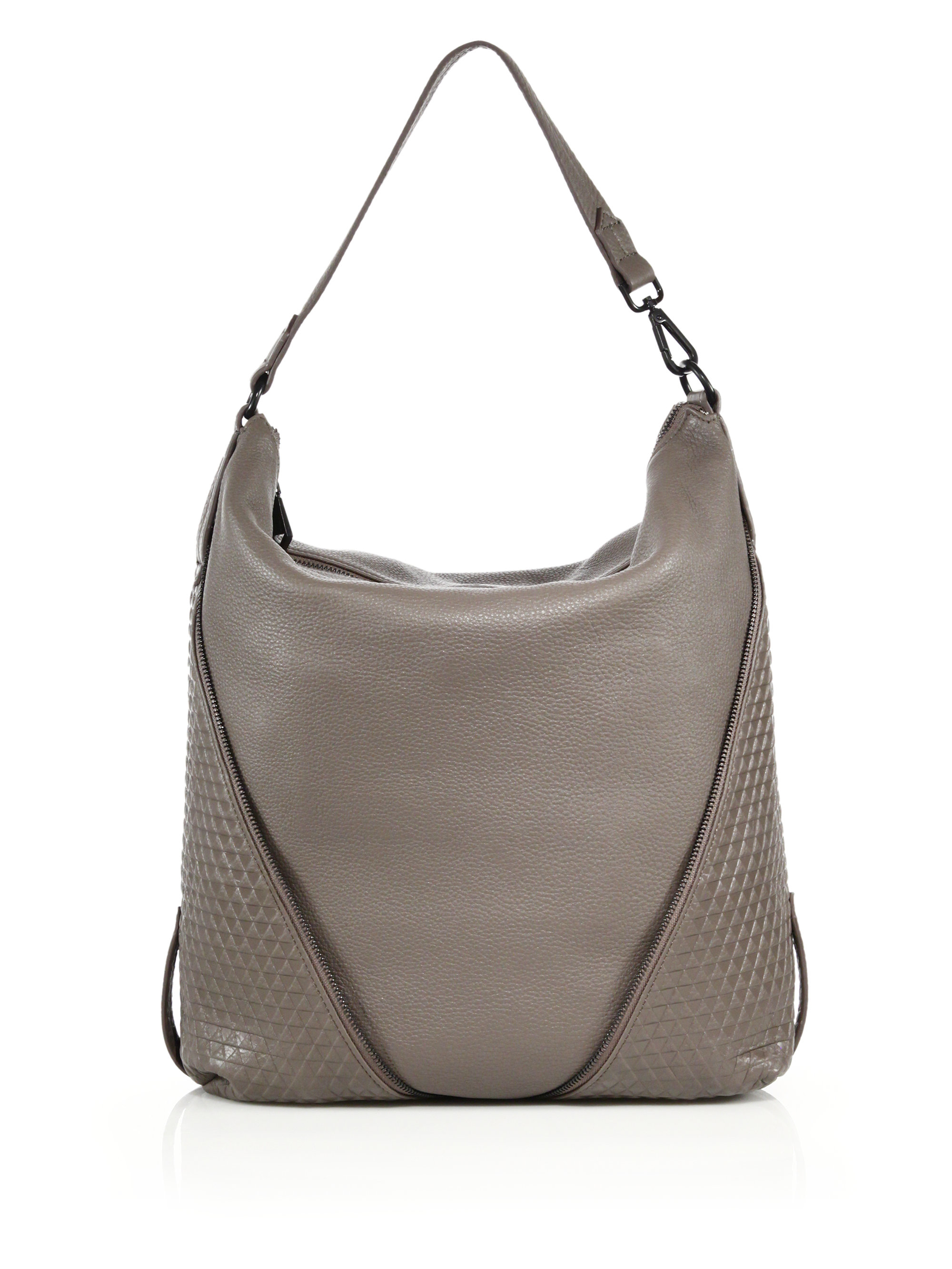 ea27bb69bdb ... Lyst - Christopher Kon Zipper-trimmed Topstitched Leather Ho check out  fdf66 d903a  CHRISTOPHER KON Leather Woven Hobo Handbag ...