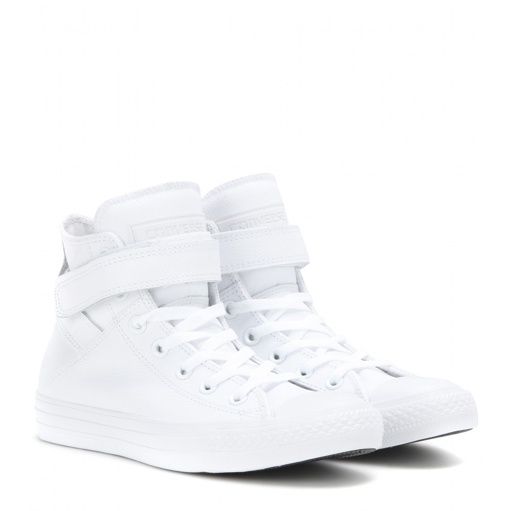 converse chuck all leather high top