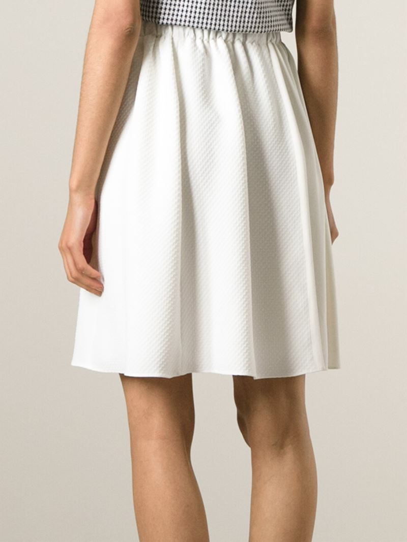 proenza schouler belted a line skirt in white lyst