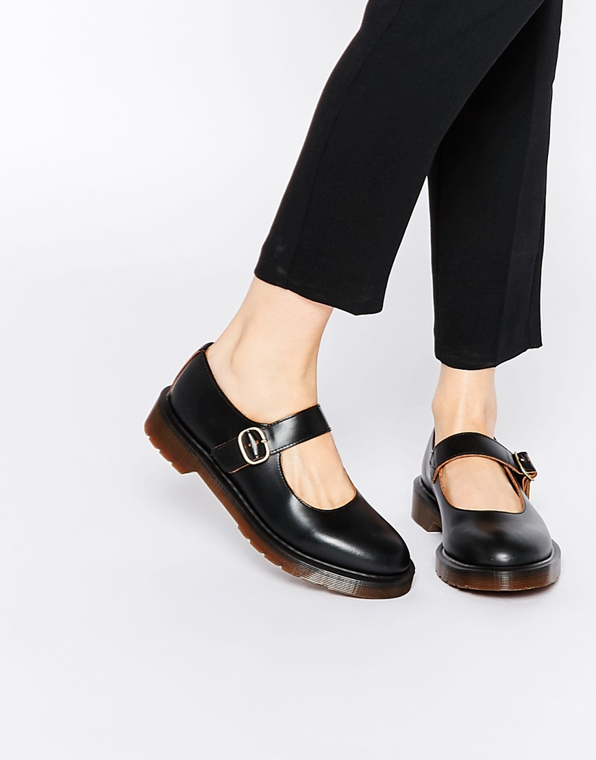 lyst dr martens archive indica mary jane flat shoes in black. Black Bedroom Furniture Sets. Home Design Ideas