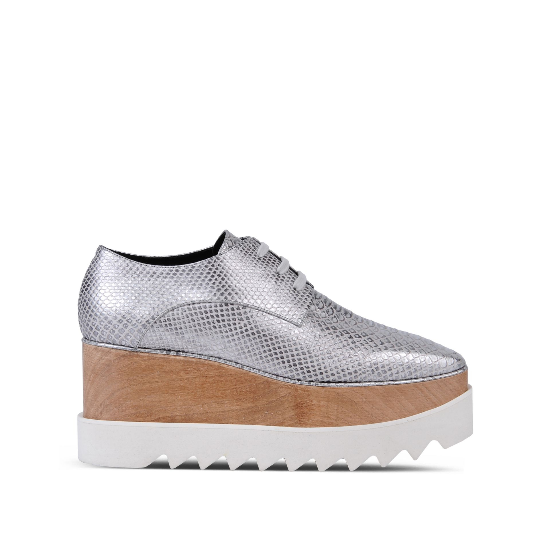6f6d4b996c7 Lyst - Stella McCartney Chrome Elyse Shoes in Metallic
