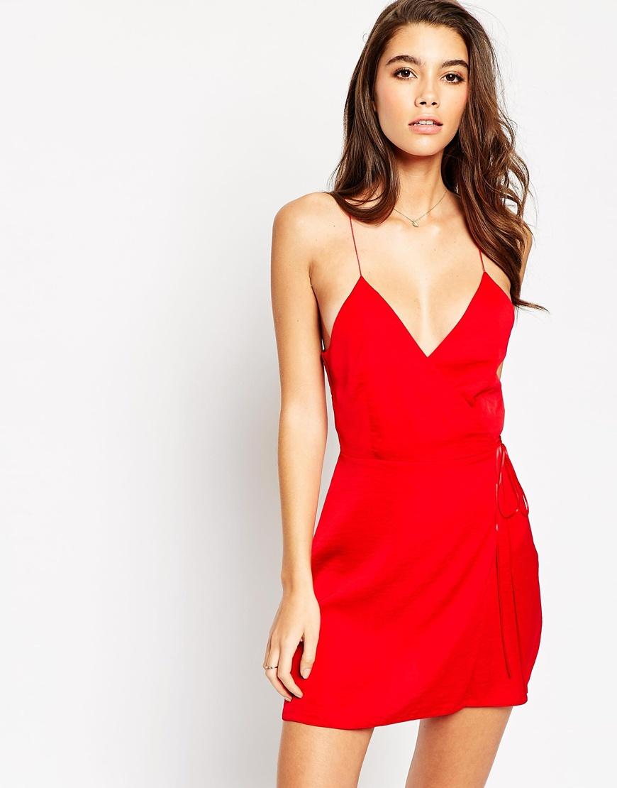 Haute Hippie Silk Slip Dress in Red (CERISE) | Lyst