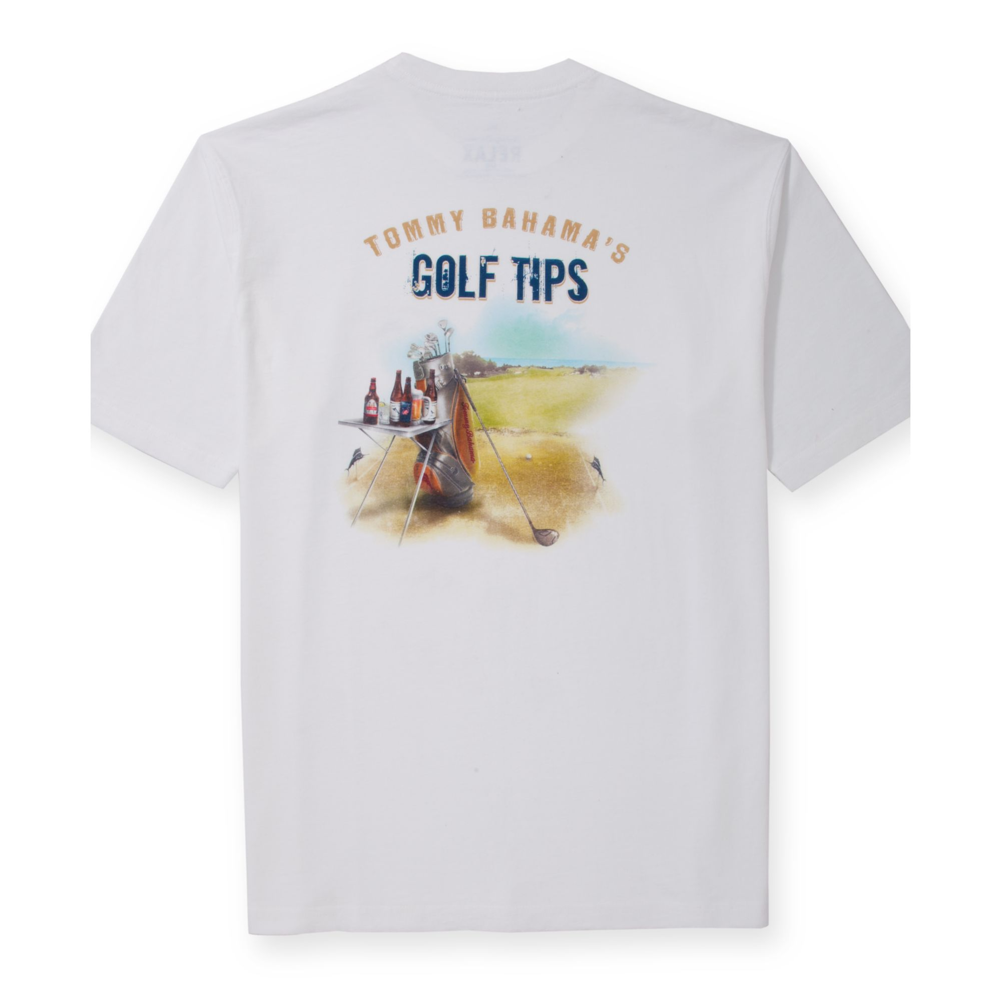 Tommy bahama golf tips tshirt in white for men lyst for Tommy bahama christmas shirt 2014