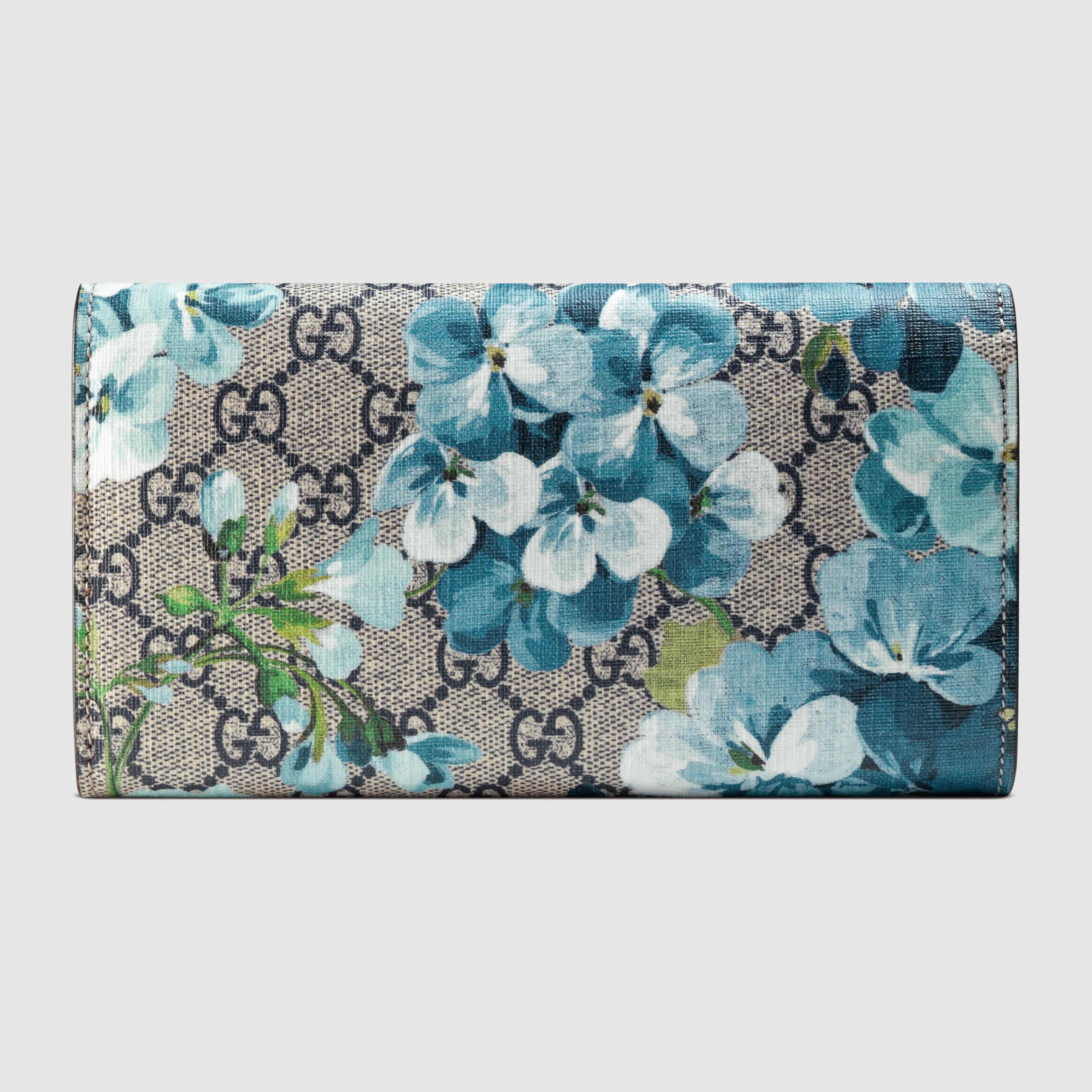 17696a4b8a61a7 Gucci Gg Blooms Continental Wallet - Lyst