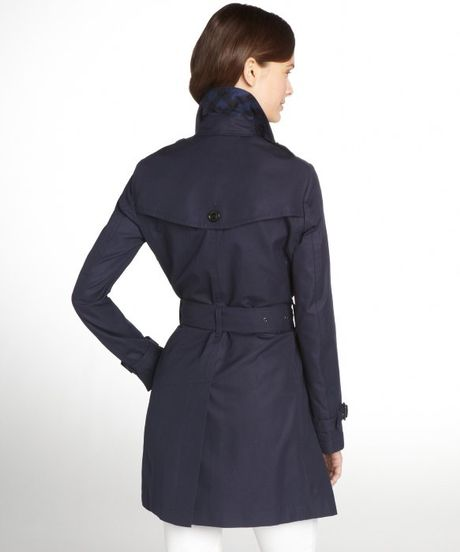 Burberry True Navy Cotton Trench Coat In Blue Navy Lyst