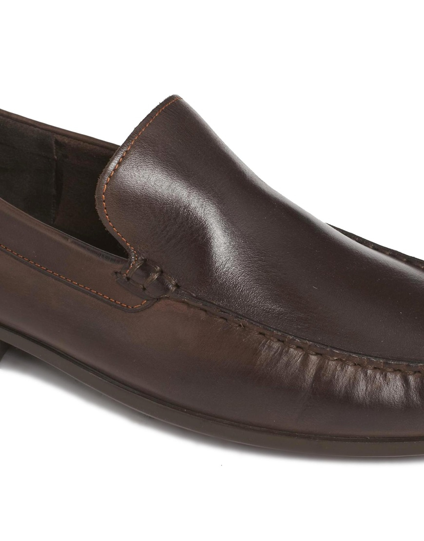 hush puppies slip on shoes in brown for lyst