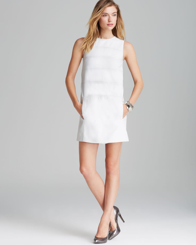 Theory Emanita Magazine Leather Dress in White  Lyst
