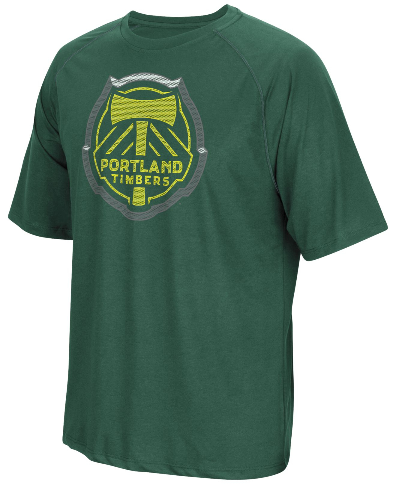 Adidas originals men 39 s portland timbers t shirt in green for Portland t shirt printing