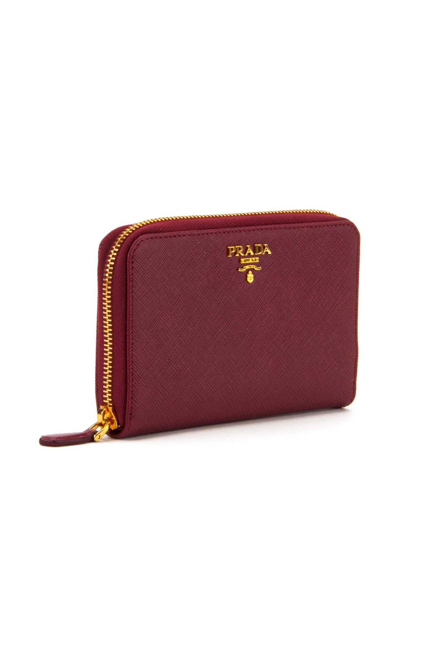 prada bags cheap - Prada Saffiano Wallet in Purple (CERISE) | Lyst