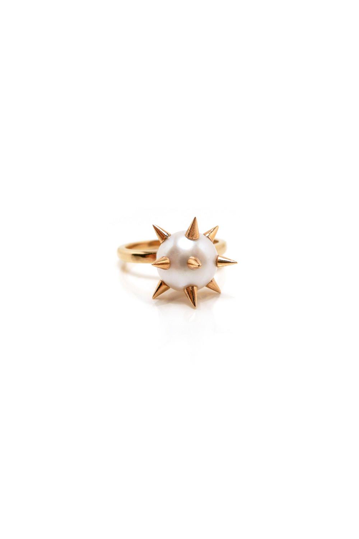 Nektar De Stagni - Metallic White/gold Spike 'bad' Pearl Ring - Lyst