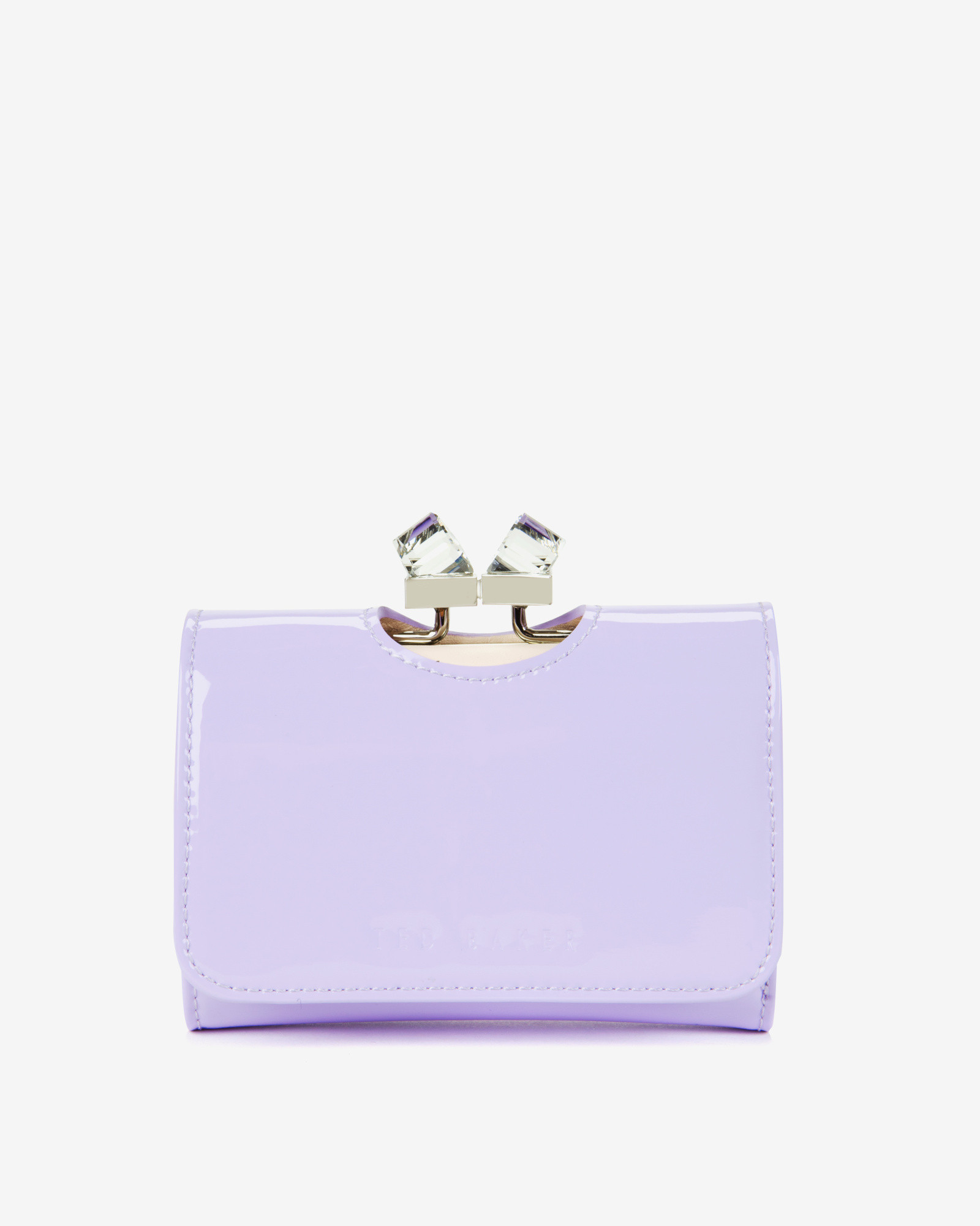 fb3ddf19e53a Ted Baker Small Patent Crystal Frame Purse in Purple - Lyst