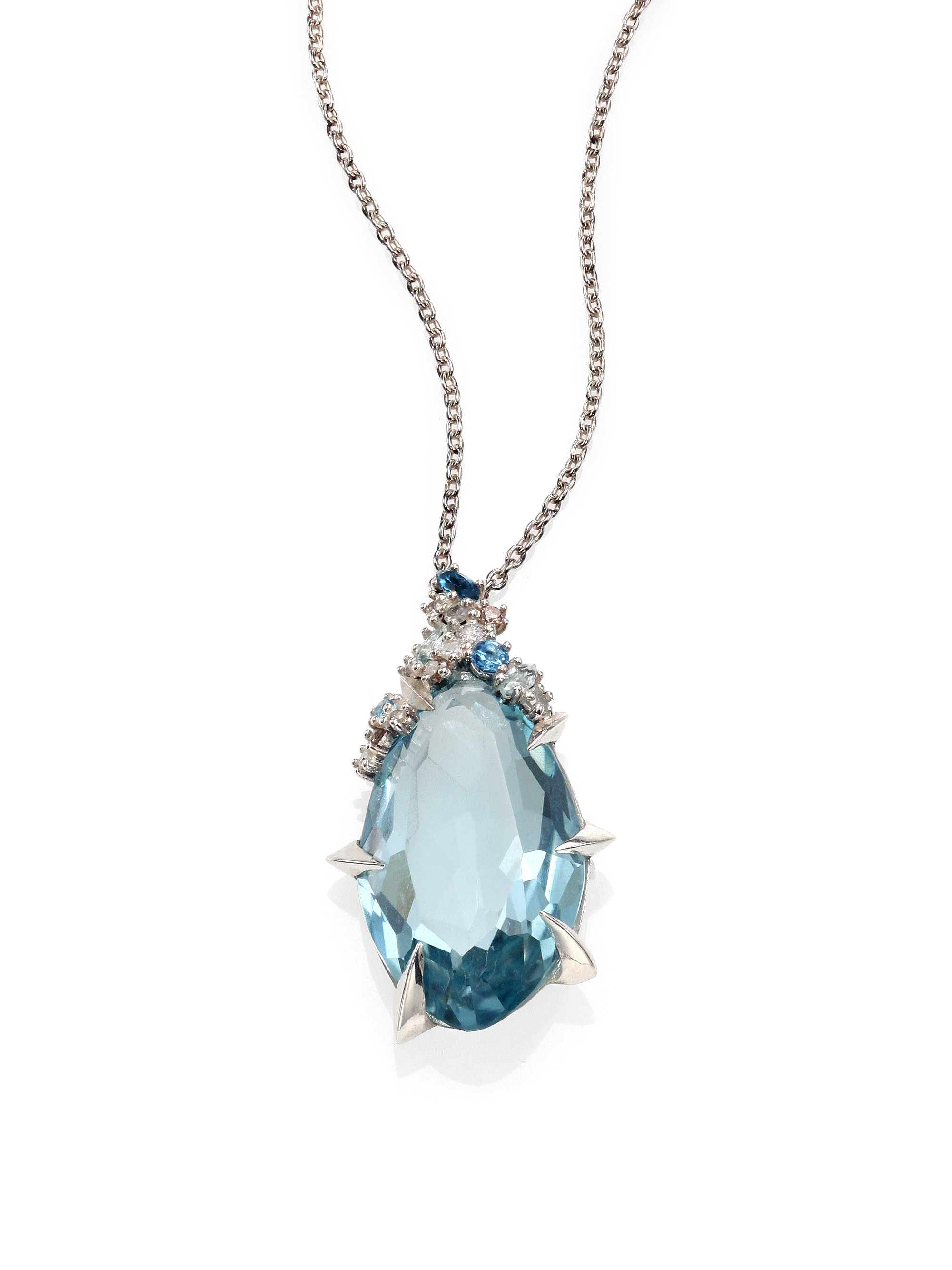 Lyst Alexis Bittar Fine Topaz Diamond Pendant Necklace
