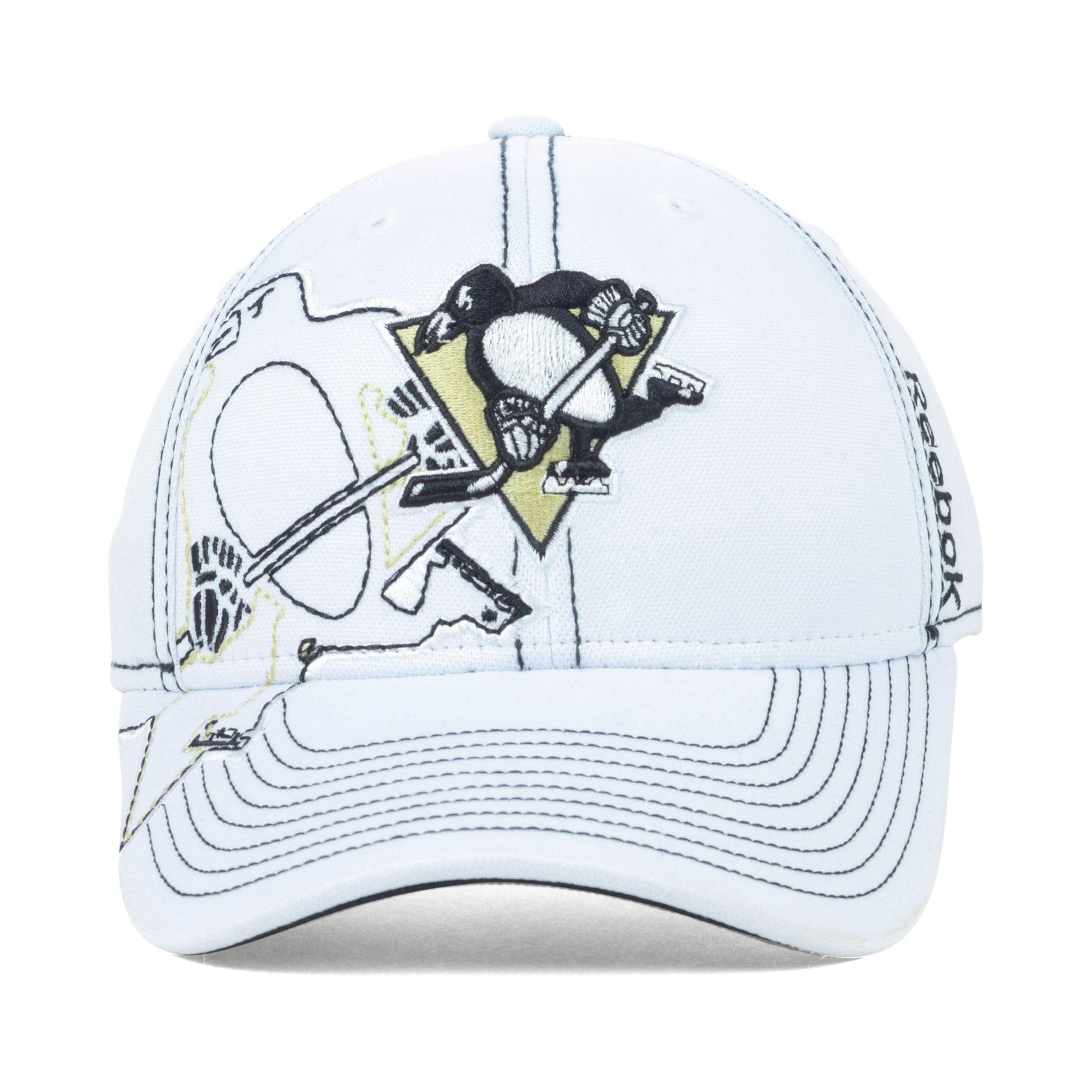 Lyst - Reebok Pittsburgh Penguins Nhl 2nd Season Draft Cap in White ... 6ba4a2c181eb