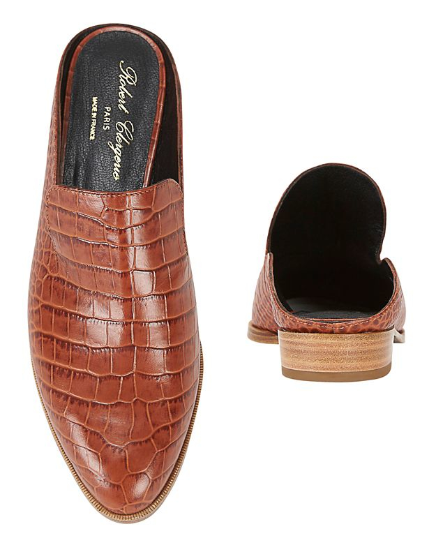 Robert Clergerie Clergerie Paris Embossed Leather Mules outlet low shipping fee cheap sale comfortable t50pschoKF