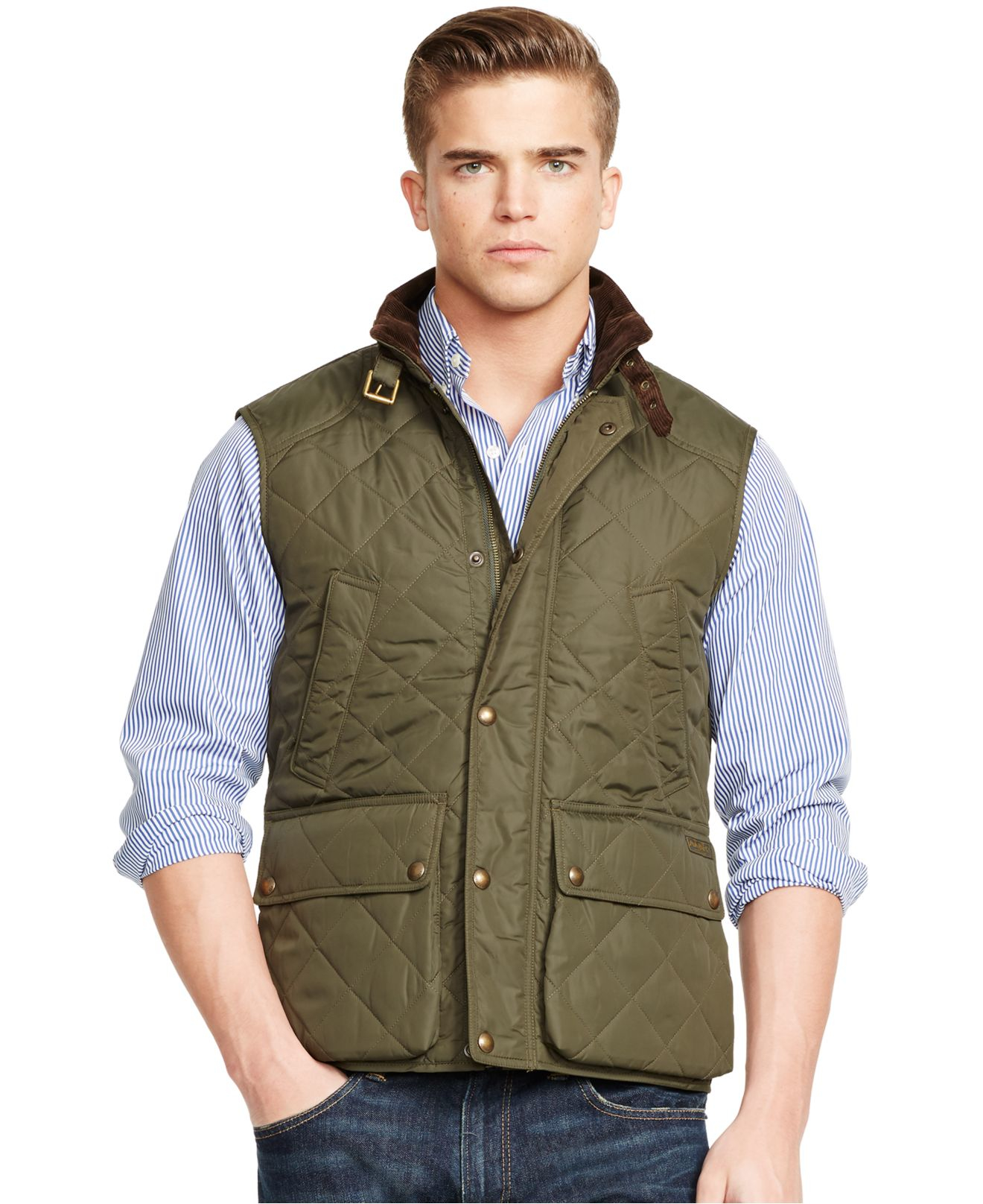 Lauren For Polo Ralph Quilted In Lyst Men Vest Green 8wPZNn0OkX