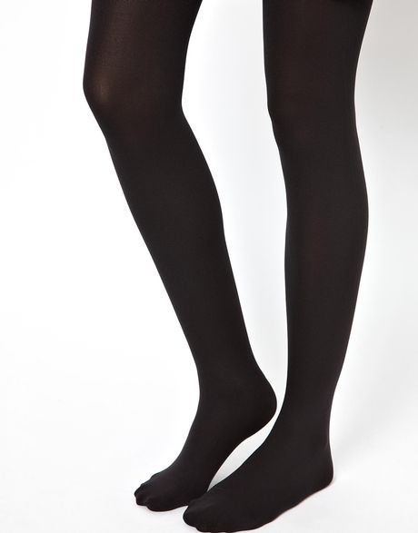 Den thick and soft micro fiber, matte and sandal toe with gusset tights.